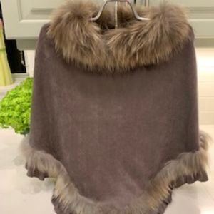 Accessories - Suede Poncho